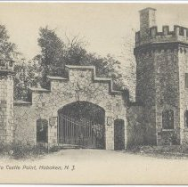 Image of Postcard: Entrance to Castle Point, Hoboken, N.J. No date, circa 1901-1907; unposted. - Postcard