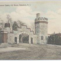 Image of Postcard: Entrance to Stevens Castle, 6th Street, Hoboken, N.J. No date, circa 1907-1914; unposted. - Postcard