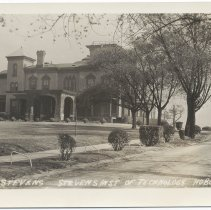 Image of Postcard: Castle Stevens, Stevens Inst[itute]. of Technology, Hoboken, N.J. No date, circa 1926-1940; unposted. - Postcard