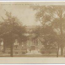 Image of Postcard: Stevens Institute, Gymnasium, Hoboken, N.J. No date, circa 1907-1925; unposted. - Postcard