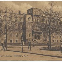 Image of Postcard: Stevens Institute of Technology, Hoboken, N.J. No date, circa 1901-1907; inscribed, unposted. - Postcard