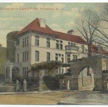 Image of Postcard: Hudson Street Entrance to Castle Point, Hoboken, N.J. Postmarked April 18, 1914. - Postcard