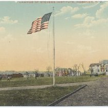 Image of Postcard: Campus of Stevens Institute, Hoboken, N.J. No date, circa 1907-1917; unposted. - Postcard