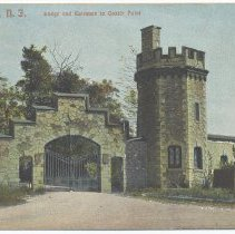 Image of Postcard: Hoboken, N.J. Lodge and Entrance to Castle Point. No date, circa 1901-1907; unposted. - Postcard