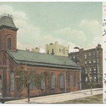 Image of Postcard: First Presbyterian Church, Hoboken, N.J. No date, circa 1901-1907; unposted. - Postcard