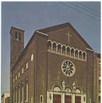 Image of Postcard: SS. [Saints] Peter and Paul's Church, Hoboken, New Jersey. Copyright 1964; unposted. - Postcard