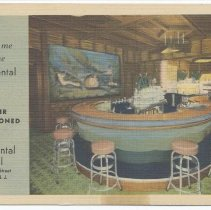 Image of Postcard: Meet me at the Continental Bar... Continental Hotel, 101 Hudson Street, Hoboken, N.J. No date, circa 1935-1945; unposted. - Postcard