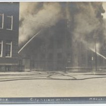 Image of Postcard: [Fire] Sept. 10 - 1908. City Straw Works, Hoboken, N.J. Circa 1908; unposted. - Postcard