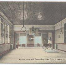 Image of Postcard: Ladies Room and Gymnasium, Elks Club, Hoboken, N.J. No date, circa 1907-1914; unposted. - Postcard