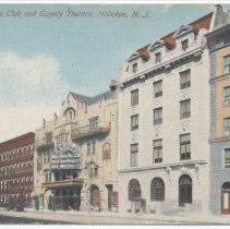 Image of Postcard: 13257. Elks Club and Gayety Theatre, Hoboken, N.J. No date, circa 1906-1914. - Postcard