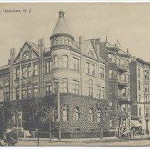 Image of Postcard: Columbia Club, Hoboken, N.J. No date, circa 1901-1907. - Postcard