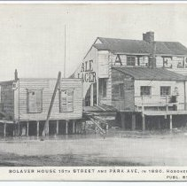 Image of Postcard: 4151. Bolaver House, 15th Street and Park Ave., in 1880, Hoboken, N.J. Published by E.F. Walter. No date, circa 1901-1907. - Postcard