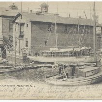 Image of Postcard: Atlantic Yacht Club House, Hoboken, N.J. Postmarked July 6, 1907. - Postcard
