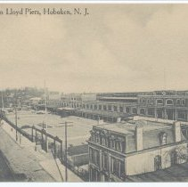 Image of Postcard: North German Lloyd Piers, Hoboken, N.J. No date, circa 1907-1914; unposted. - Postcard