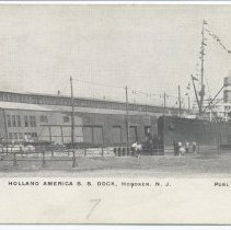 Image of Postcard: 4284. Holland America [Line] S[team].S[hip]. Dock, Hoboken, N.J. Published by C. Wolff. No date, circa 1901-1907; unposted. - Postcard