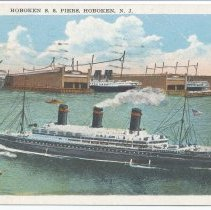 Image of Postcard: Hoboken S.S. Piers, Hoboken, N.J. Postmarked Dec 21, 1939. - Postcard