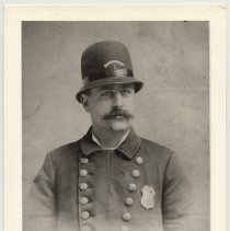 Image of Postcard: [Roundsman John Cross, Second Precinct, Hoboken Police Department, Hoboken, New Jersey.] No date, circa 1900 image; issue date circa 1980s; unposted. - Postcard