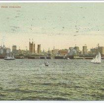 Image of Postcard: New York from Hoboken. Postmarked Nov. 1, 1910. - Postcard