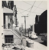 Image of B+W photo of the 700 block of Grand Street looking north, Hoboken, no date, ca. 1970-1975. - Print, Photographic