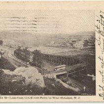 Image of Postcard: No. 23 - Loop from 14th Street Ferry to West Hoboken, N.J. Postmarked Hoboken, September 3, 1907. - Postcard