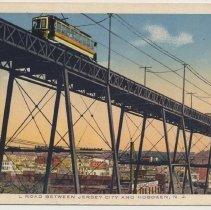 Image of Postcard: L Road Between Jersey City and Hoboken, N.J. No date, circa 1915-1925. - Postcard