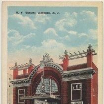 Image of Postcard: U.S. Theatre, Hoboken, N.J. No date, circa 1915-1930; unposted. - Postcard
