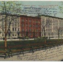 Image of Postcard: Elysian Park, 10th & Hudson Sts., Hoboken, N.J. Postmarked March 28, 1912. - Postcard