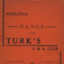 Image of Souvenir journal (program) for 2nd Annual Dance of the Turk's S. & A. Club, Hoboken, March 8, 1941. - Program