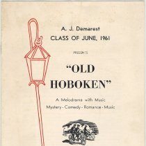 "Image of Digital images of program: ""Old Hoboken"", A Melodrama with Music..., A.J. Demarest High School, Hoboken, May 19-20, 1961. - Program"