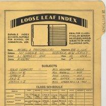 Image of loose leaf index