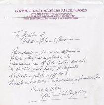 Image of transmittal letter