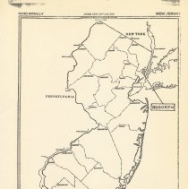 Image of Map of New Jersey following pg 27 [end of document]