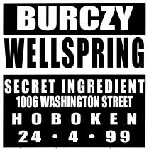 Image of Digital image of poster: Burczy, Wellspring, Secret Ingredient, 1006 Washington St., Hoboken, April 4, 1999. - Poster