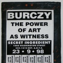 Image of Collage artwork: Burczy, The Power of Art as Witness. Created by artist Robert Burczy, Hoboken, 2006. - Collage