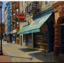 Image of Digital images, 2, of Frank Hanavan painting of Giorgio's made in April, Hoboken, 2006. Photographs taken by Robert Foster. - Print, Photographic