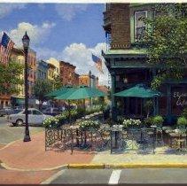 Image of Digital images, 2, of Frank Hanavan painting of Elysian Cafe dated 8-4-06, Hoboken, 2006 - Print, Photographic