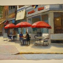 Image of Digital images, 2, of Johnny Rockets, date not legible, Hoboken, 2006. - Print, Photographic