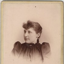 Image of Cabinet photo of young woman, Hoboken, no date, ca. 1892-1900. - Print, Photographic