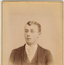 Image of Cabinet photo of young man, Hoboken, no date, ca. 1892-1900. - Print, Photographic