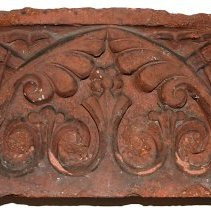 Image of Decorative terracotta brick from Public School No. 6, Eleventh St. & Willow Ave., Hoboken. - Brick