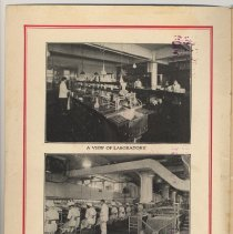 Image of inside front cover: 2 factory interior photos; vignette factory at Hoboken
