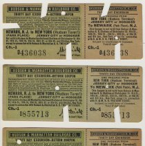 Image of Ticket: Hudson & Manhattan R.R. 30 Day Excursion Ticket & Return Coupon. 1917. - Ticket, Transportation