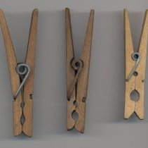 Image of selected two piece wood spring clip pins