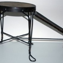 Image of Stool from Kusseluk Shoe Store, Hoboken. - Stool