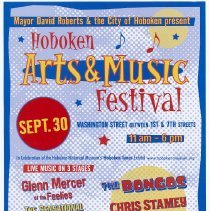 Image of Poster: Hoboken Arts & Music Festival, Hoboken, September 30, 2007. - Poster