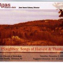Image of Postcard announcement: Cantigas Women's Choir, Community Church, Sixth & Garden Sts., Hoboken, Dec. 2, 2006 - Postcard