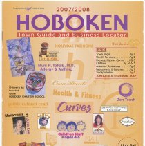Image of 2007/2008 Hoboken Town Guide and Business Locator. - Booklet