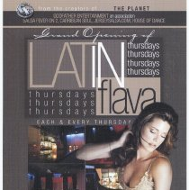 Image of Handbill for Grand Opening of Latin Flava, Lounge 11 Bar & Restaurant, 505 Madison St., Hoboken, (2007). - Handbill