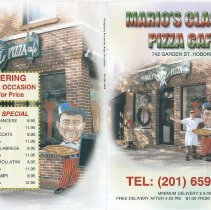 Image of Menu for Mario's Classic Pizza Cafe, 742 Garden St., Hoboken. (2007).  - Menu