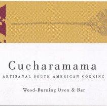 Image of Business card: Cucharamama, 233 Clinton Street, Hoboken, (2006). - Card, Trade